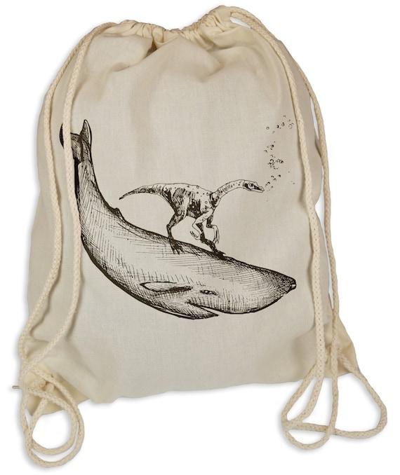 Dino - Gymsac-sacs de sport - sac cabas hipster sport sac à dos sac dinosaure baleine de baleines