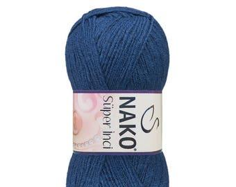 NAKO SUPER INCI wool acrylic yarn color choice hand knit yarn Premium acrylic nako wool winter yarn soft yarn cardigan yarn hat yarn