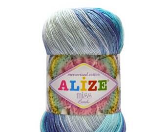crochet crochet doilyTatting thread lace thread fine thread mercerized Cotton mercerised Free fast shipping 26 skeins Alize Miss batic