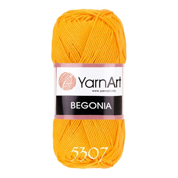 e9e353a00 YarnArt BEGONIA cotton yarn crochet cotton yarn soft yarn | Etsy