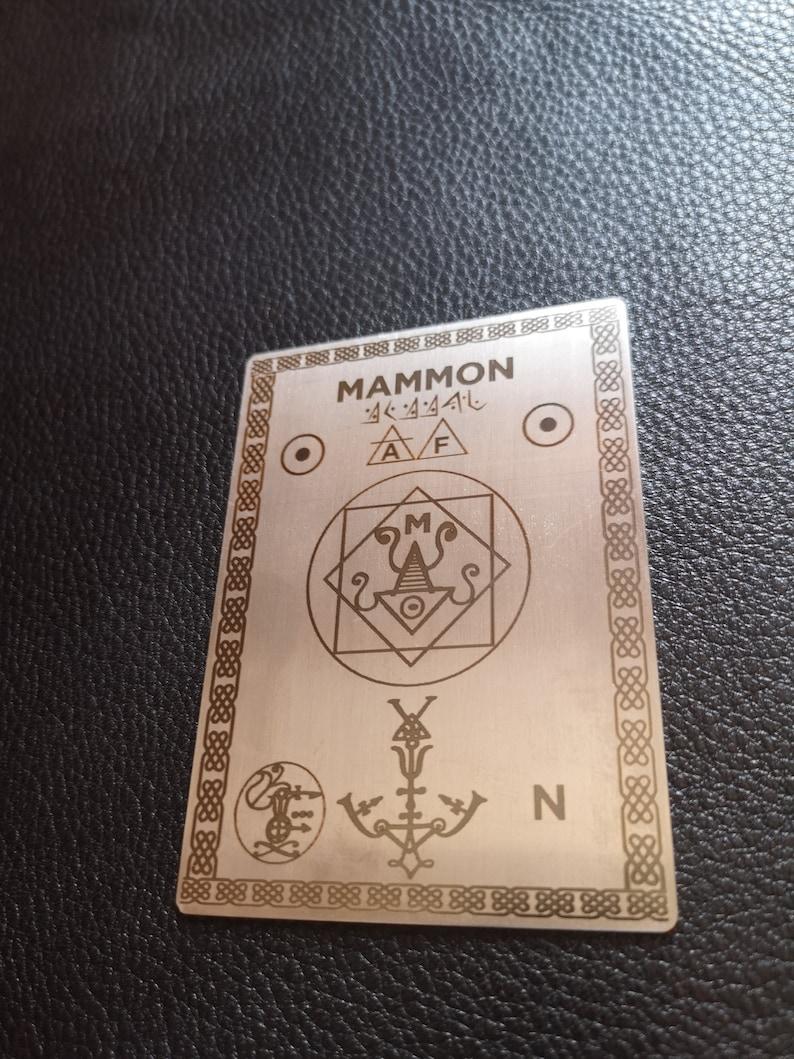Demon Magic Magic Demon Deck Sigil of Demon Mammon, conjuration card home  altar for Witchcraft, demon magic or magical rituals