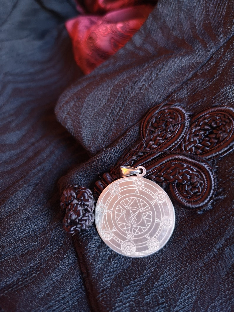 Demon Pendant Kings of Hell Silver Pendant used as Satanic Jewelry, Witch  Jewelry, Baphomet Jewelry or Satan Jewelry