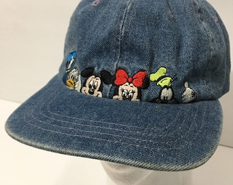 a499dde01a9d2 Vintage Disney World Denim Dad Hat Ball Cap 90s