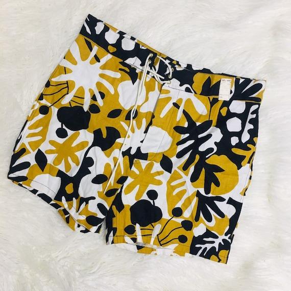 NOS High Waisted Shorts Cotton Drawstring Hippie B