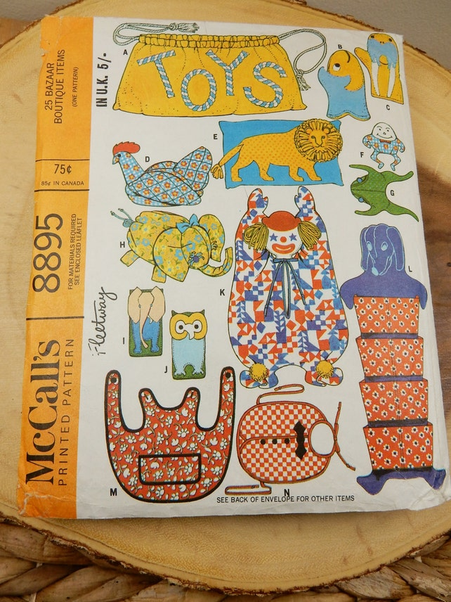 Toy Pattern Vintage Sewing Patterns 25 Patterns in 1 | Etsy