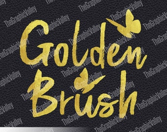 gold alphabet clipart painted foil paintbrush golden clipart metallic paint scrapbooking gold brush letters invitation png instant download