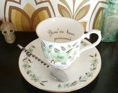 You've been Poisoned Teacup/Saucer Set, Poison Teacup, Funny Teacup, Poison Mug
