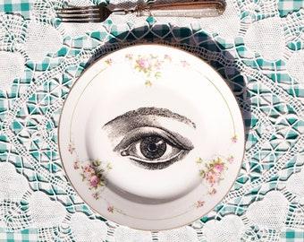 Antique Anatomic Human Eye Side Plate 1910s
