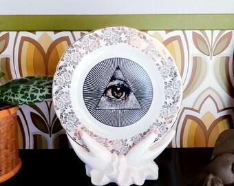 All Seeing Eye Masonic Vintage Side Plate