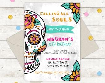 Sugar Skull Invite Etsy