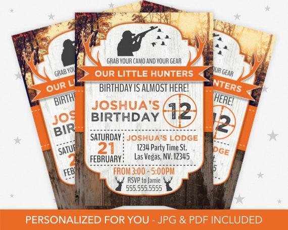 Party Einladung Jagd Geburtstag Einladung Jagd Thema Etsy