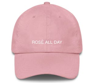 f82158595f5ac CUSTOM FOR LIZZIE  Rose All Day Cap in White with Pink Lettering +  additional text printed on back.