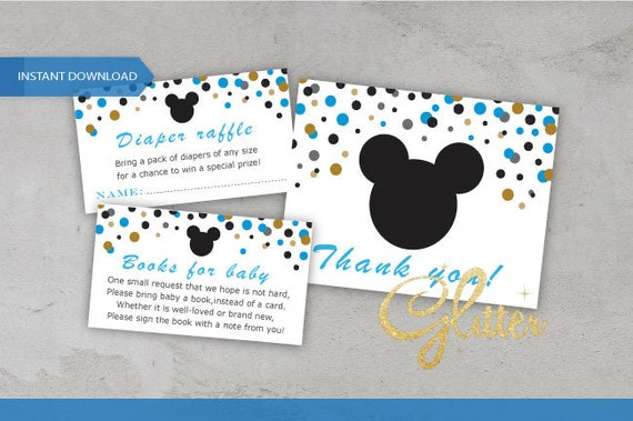 mickey matching diaper raffle ticket books for baby and thank etsy