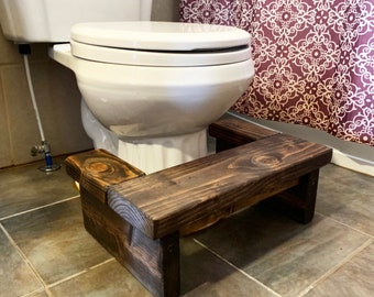 Bathroom Stool Etsy