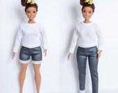 Barbie clothes curvy Barbie jeans curvy barbie sweatshirt Curvy barbie shorts curvy Barbie clothes curvy barbie jumper