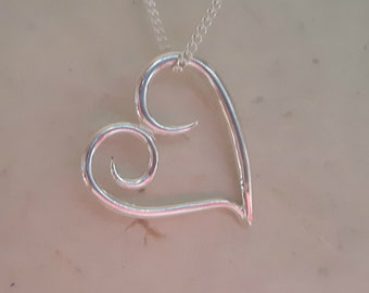 Sterling Silver Large Heart
