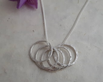 Sterling Silver Five 'Circles' Pendant