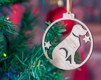 Dog Christmas Tree Bauble Decoration