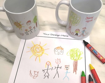 Your Child's Artwork on a Mug