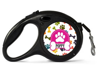 Personalised Dog Lead - Retractable