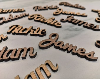 Oak Wedding Place Names - Personalised