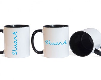 Love Island Personalised Name Mug - Black Inner