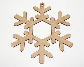 Christmas Snowflake Hanging Decorations Laser Cut 115mm