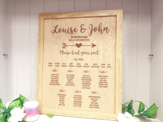 Seating Plan Large A1 A2 A3 Personalised Oak Tree Wedding Table
