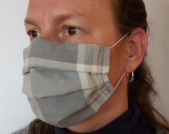 100% Cotton Face Mask or Face Covering to help protect you from airborne allergens, dust, pollen