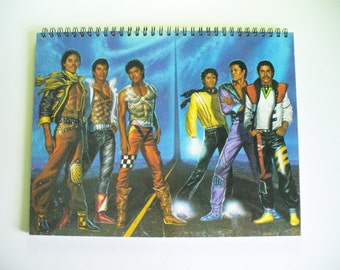 The Jacksons Victory record sleeve notebook recycled from one of your favourite album sleeves.