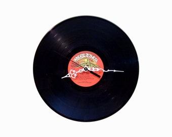 Rare Earth One World lp record clock