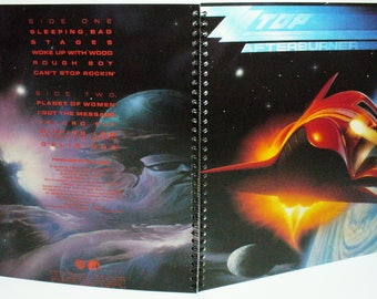 ZZ Top Afterburner Record sleeve notebook