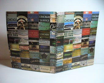 Chicago Greatest Hits Volume II Record sleeve notebook recycled from one of your favourite album sleeves.