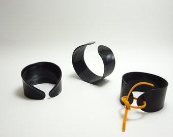 Vinyl record cuff or vinyl record bracelet