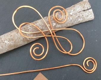 Hair sticks, barrettes