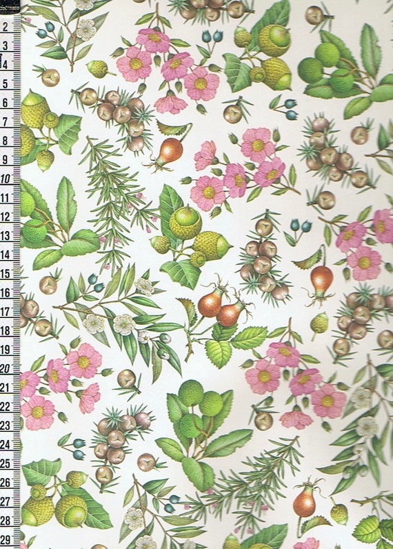 2 Italian Decorative Papers Rossi Mediterranean Plants Etsy