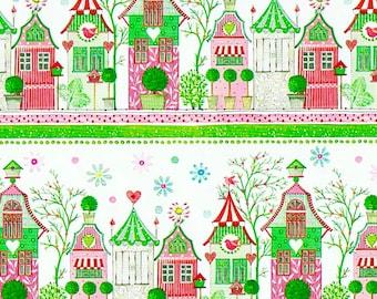 2 rolls of Gift Paper Pink Maisonettes SUSANNA