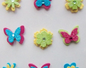 HAPPY BUTTERFLIES AND Flowers - Hand made in India
