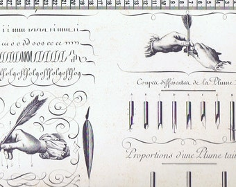 2 sheets of Italian decorative paper ROSSI - CALLIGRAPHY