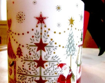 HAPPY Decorative candle Christmas for 80 hours
