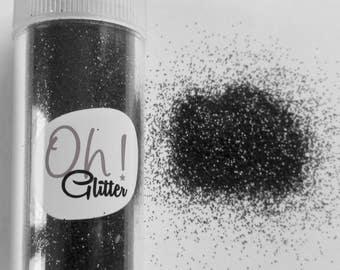 Fine glitter glitter black in salt