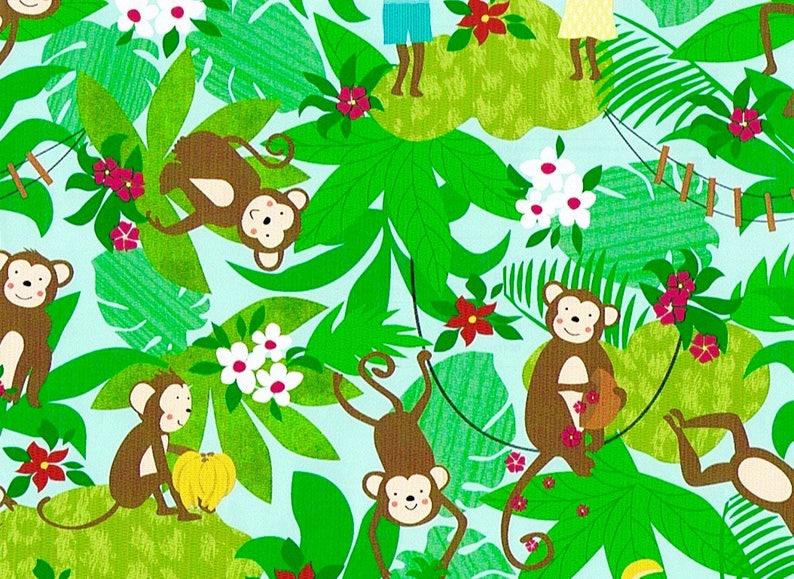 e1c5fb55ae8 2 rouleaux de papier cadeau FERNANDO Motif  petits singes