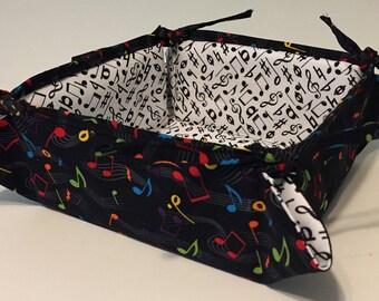 Musical notes napkin holder, bread, snacks, desk caddy, basket