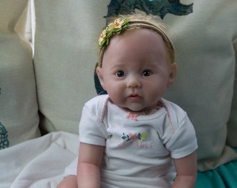 6f6fdaefc Rooted hair| Awake Reborn Baby Girl or Boy {Beyond The Sea Nurseries -  Little Matey Collection}