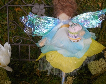 Easter Felted Wool Fairy made with Merino Wool