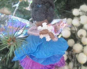 Winter Wonderland Felted Wool Fairy Ornament