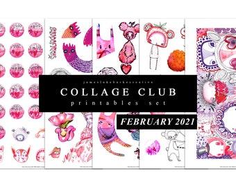 COLLAGE CLUB [FEBRUARY 2021] Printables by jameslukeburkeCREATIVE
