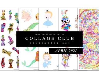 COLLAGE CLUB [APRIL 2021] Printables by jameslukeburkeCREATIVE