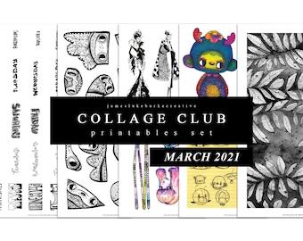 COLLAGE CLUB [MARCH 2021] Printables by jameslukeburkeCREATIVE