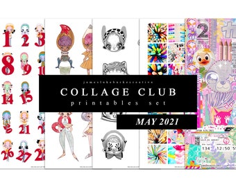 COLLAGE CLUB [MAY 2021] Printables by jameslukeburkeCREATIVE